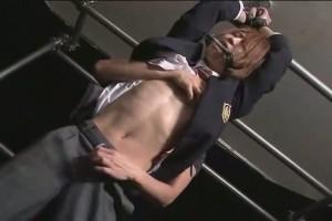 【ゲイ動画】ジャニーズ系スリ筋美少年DKが筋肉教師に呼び出されて拘束折檻ファックで淫行おしおき!
