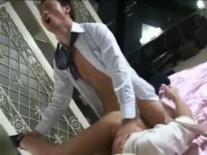 【ゲイ動画】アフターファイブは会社のイケメン先輩とホテルでアナルファック!