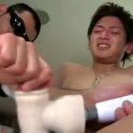 【ゲイ動画】20歳のジャニーズ系イケメン・ハヤトが男との初めての経験で尻に指を挿入されて巨根ビンビン悶絶イキ!