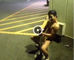 【Vine動画】やんちゃ系筋肉イケメンが野外でポールダンスを見せるw