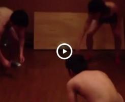 【Vine動画】パンツ脱がせ相撲で荒ぶるジャニーズ系筋肉イケメン達w