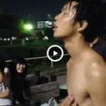 【Vine動画】衆人環視の中、乳首責めで喘ぎまくるジャニーズ系筋肉イケメン!