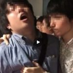 【Vine動画】衆人環視の中、ジャニーズ系童顔美少年に雄っぱいを揉まれてアヘるガチムチイケメンw