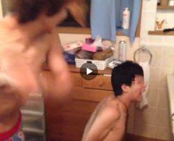 【Vine動画】ジャニーズ系スリムイケメン、友達を拘束してあのオナホで鞭打ちw