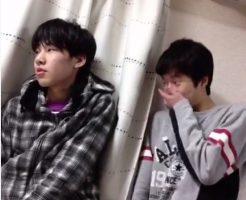 【Vine動画】フェミニン男子がジャニーズ系イケメンにこっそり間接キス♪