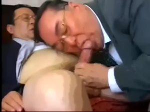 【ゲイ動画ビデオ】親父だってゲイセックスがしたい! 眼鏡のぽっちゃり系中年リーマン二人の粘着質なフェラ、キス、アナル舐め前戯、そして正常位でのまったりピストン!