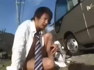 【ゲイ動画】バスに乗ったら全員痴漢! EXILE系筋肉イケメンDKがオラオラ系なマッチョ痴漢に輪姦され肉体を蹂躙される!