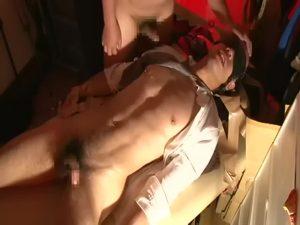 【ゲイ動画】先輩からスジ筋ボディに目を付けられてしまったノンケリーマン、急襲され目隠しレイプでケツマン調教される!
