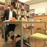 【ゲイ動画】まさかの図書館で筋肉イケメンがスーツスリ筋イケメンの巨根をおしゃぶり奉仕、そして立ちバックでバコバコにケツマンを犯す!
