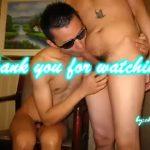 【ゲイ動画】野郎たちの肉奴隷になることに悦びを覚えるアジア系スリ筋ゴーグルマンの3P巨根奉仕!