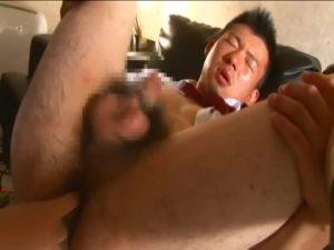【ゲイ動画ビデオ】ゴーグルマンのちんぐり返しバイブ挿入と手コキでイカされる精力的な筋肉イケメンリーマン!