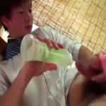 【ゲイ動画】二十歳とは思えないノンケの童顔ジャニーズ系スリ筋美少年がオナホオナニーでイキます!