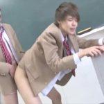 【ゲイ動画】教室でイチャイチャしちゃうジャニーズ系スリム美少年♪ 乳首舐めてとおねだりマックス!