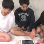 【ゲイ動画】ノンケの筋肉イケメン、ジャニーズ系スリ筋美少年は友達! 互いのチンポを見せ合いながらオナニーをしていたら……!