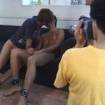 【ゲイ動画】筋肉イケメンが謎の覆面男に拘束され、キスにフェラ奉仕を強要される恥辱を受ける!