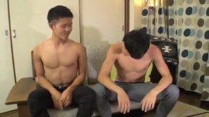 【ゲイ動画ビデオ】19歳の親友同士であるノンケ筋肉イケメンくんが好奇心からWゲイビデオ出演したら、ゴーグルマンのねっとり尺八にアヘイキ!!