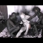 【ゲイ動画】黒、白が入り乱れる! 三人の筋肉マッチョイケメンがボディペイントしまくって巨根を弄り合う異色3P!