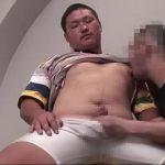 【ゲイ動画】とても18歳には見えない、ガチムチマッチョすぎる強面ノンケイケメンが男の手コキとフェラ、バイブ責めで恥ずかしい射精を見せる!