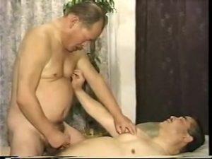 【ゲイ動画ビデオ】ガチムチ、チョイワル、いぶし銀! 中年老年なイケオジが69に悶えオナニーでイク!