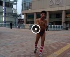 【Vine動画】パンツ一丁になった童顔スリム筋肉イケメンが○I○Iの前で江頭のものまねを披露w