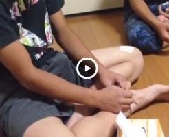 【Vine動画】テント張りすぎなフル勃起チンコをビクビクさせるイケメン少年!