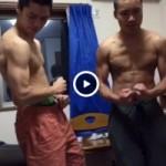 【Vine動画】スジ筋DK坊主イケメンがライザップごっこで筋肉披露w
