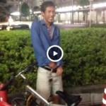 【Vine動画】スリ筋イケメンが外でチンコを出してみたら、ガチムチに叩かれた件w