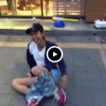 【Vine動画】路上でダンスするジャニーズ系スリムイケメンのパンツがずれて生尻披露w