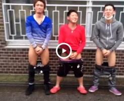 【Vine動画】ガッチビイケメン、筋肉イケメン、ジャニーズ系イケメンが仲良く野外で尻を出すw