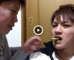 【Vine動画】ジャニーズ系イケメン二人によりポッキーゲーム…じゃない、それタダのBLキスやw
