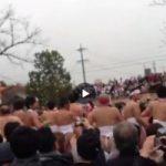 【Vine動画】真冬の褌ガチムチイケメン祭り開催! 男尻を拝んで無病息災祈願!