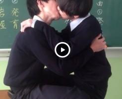 【Vine動画】ジャニーズ系美少年DKがポッキーを両端から食べてディープキスしちゃってるイチャイチャBL♪