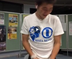 【Vine動画】ツイッターフォローを求めつつ巨根をチラ見せする童顔イケメンw