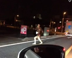 【Vine動画】夜の路上でスリム筋肉を見せびらかすようにダンスを披露するやんちゃ系イケメンくんw