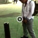 【Vine動画】街中でちんこを露出したら小さいと友達に言われてしまうジャニーズ系イケメン君w