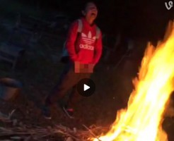 【Vine動画】燃えさかる炎に向かって放尿するも勢いが足りないジャニーズ系童顔イケメンくんの悔しさw